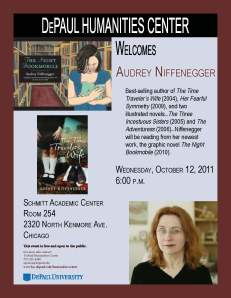 DePaul Humanities presents Audrey Niffenegger