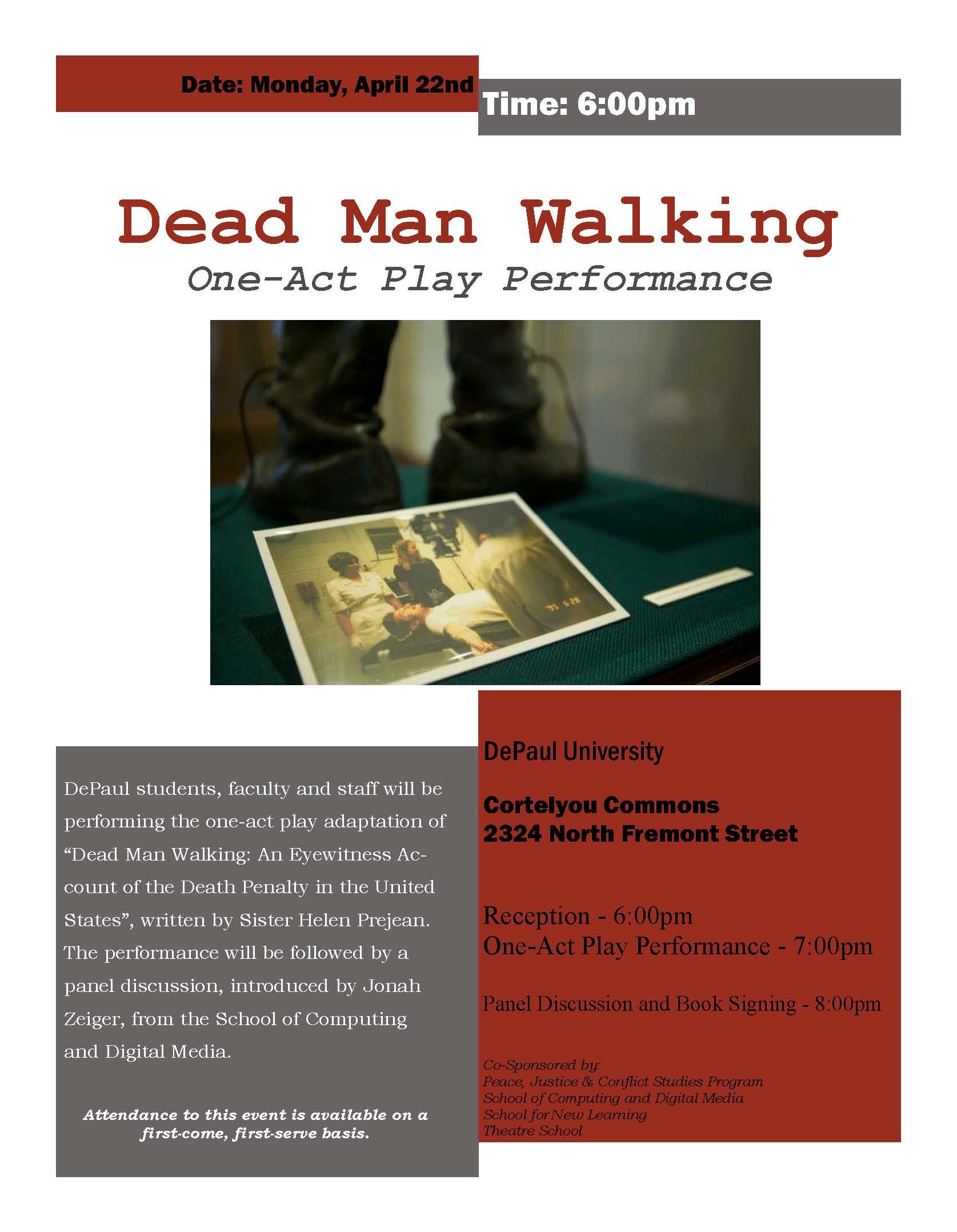 Dead man walking death penalty essay