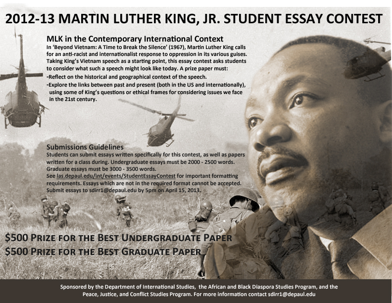 martin luther king junior essay Writing an essay on martin luther king jr learn to write a paper on personality here.